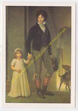 CP ART TABLEAU FRANçOIS GéRARD Isabey tenant par la main sa jeune fille
