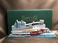 "RETIRED Shelia's Collectibles ""Belle Of Louisville"" Wooden Shelf Sitter NIB!!"