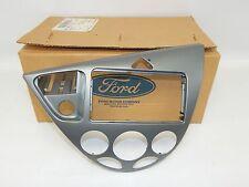 New OEM 2000-2003 Ford Focus Front Center Dash Instrument Panel Bezel Trim Gray
