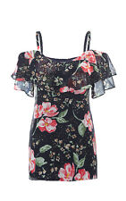 Cabi New Size XS Cold Shoulder Cami #5220 Navy floral 2017 MSRP $89