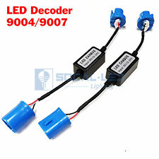 2x EMC 9007 HB5 Headlight Kit Canbus LED Decoder Anti-Flicker Relay Adapter
