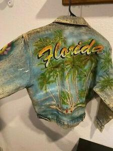 Authenthic Tony Alamo unfinished size Youth Small Florida Edition Denim Jacket