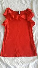 H&M Red sleeveless top Size Medium 203