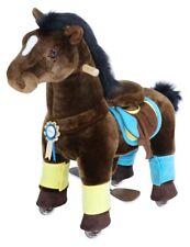 PonyCycle Premium K Series Kids Manual Ride on Horse Chocolate Brown Small 3-5Yr
