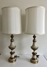 FINE PAIR OF STIFFEL MID CENTURY HOLLYWOOD REGENCY BRASS LAMPS