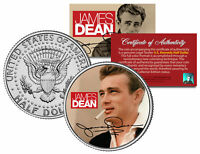 JAMES DEAN * SIGNATURE * JFK Kennedy Half Dollar US Colorized Coin * LICENSED *