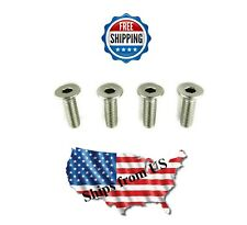 Brake Disc Rotor Stainless Steel Retaining Screws Audi VW Volkswagen (Pack of 4)