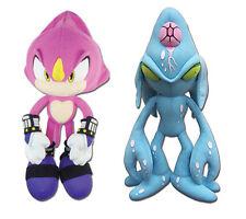Set of 2 Great Eastern Sonic the Hedgehog - Espio Chameleon & Large Chaos Plush