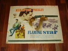 "ORIGINAL HALF SHEET 1960 ELVIS PRESLEY MOVIE POSTER FROM FLAMING STAR, 22"" X28"""