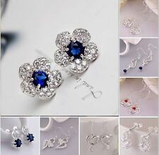New High Quality Jewelry 925Silver Fashion beautiful Earring Birthday Gift+Box