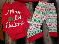 My First Christmas Baby Outfit 3 Piece Gender Neutral