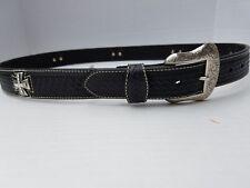 Cross Concho Black N2508601 Sz 44 Nocona Western Mens Pro Belt Leather Maltese