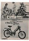 Pubblicità 1971 CIMATTI LIBERTY MOTO MOTOR advertising werbung publicitè reklame