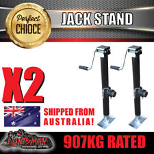 X2 trailer caravan canopy jack stand 907kg rated heavy duty 387mm extension