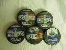2015 NHL Tampa Bay Lightning Stanley Cup Playoffs Hockey FIVE Puck Pack