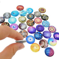 20x Flatback Flower Glass Round 25mm Cabochon Mixed Crafts Jewelry Accessories