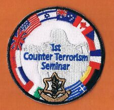 1st COUNTER TERRORISM SEMINAR AND  EXERCISE  IN ISRAEL EXTREME RARE PATCH