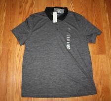 NWT Mens CALVIN KLEIN Gray Space Dye Striped Polo Shirt Size XXL 2XL