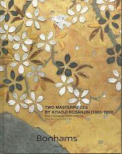 BONHAMS Japanese Art Two Masterpieces Rosanjin Paintings Auction Catalog 2013 HC