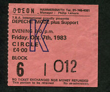 Original 1983 Depeche Mode concert ticket stub London Construction Time Again
