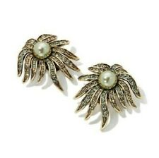 "Heidi Daus ""Sublime Star"" Pair of Pave Crystal Clip-on earrings"