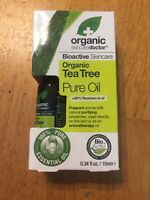 Organic Doctor Organic Tea Tree Pure Oil .34 fl oz / 10 ml NIB BioActiv Skincare