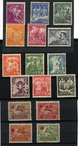 Poland 1921 & 1938 Mint Hinged Selection of 16 stamps Total Cat £170+