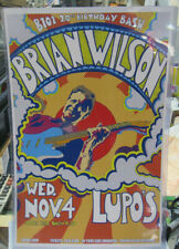 Brian Wilson Poster Late 2000'S Vintage 11 X 17 In Top Loader Concert Board