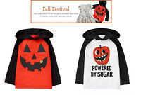 NWT Gymboree Boys Fall Festival Halloween Jack o Lantern Hooded Tee U-pk 4T, 5T