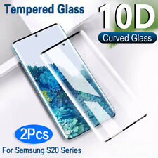 2x For Samsung Galaxy S20/Plus/Ultra Full Cover Tempered Glass Screen Protector