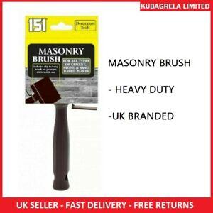 "MASONRY BRUSH - All types cement stone sand based paints 4"" wall brick rough"