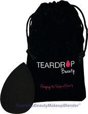 (Negro) Original en forma de lágrima Belleza Maquillaje Licuadora ® mezcla Fundación Esponja Pro