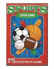 Sports Trivia Games 36 Flash cards New soccer basketball football baseball