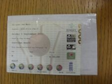 05/09/2003 Ticket: Cricket - England v South Africa [At The Oval]. Thanks for vi