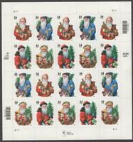 19th Century Santa Claus #3537 - 3540 Mint Never Hinged SHEET of Twenty USA2001