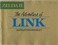 ORIGINAL Vintage Legend of Zelda II Adventures of Link Nintendo NES Manual