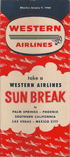 Western Airlines system timetable 1/7/60 [6092] Buy 4+ save 25%