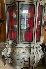 Antique Egyptian Wood Cupboard, Inlaid Mother of Pearl