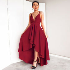 UK Women Formal Long Dress Cocktail Ladies Evening Party Prom Bridesmaid Wedding