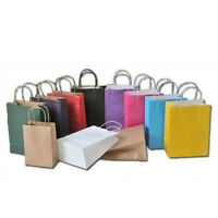 1Pc Kraft party Paper Carrier Bag Wedding Treat with handle gift loot bags