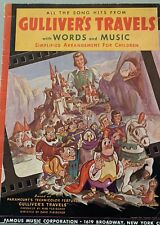 GULLIVER'S TRAVELS Sheet Music Book All The Song Hits 1939