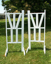 "Horse Jumps Top Double ""V"" Design Cut Rails Jumper Wing Standards Pair/6ft #254"