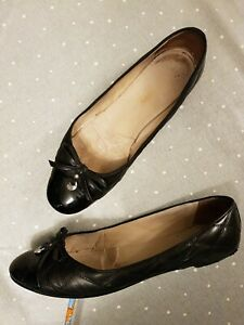 Russell And Bromley Black Ballet Shoes/pumps, 42/9, leather