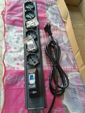 Rack Ciabatta Multipresa Elettrica 6 Posti Schuko con Cavo e magnotermico