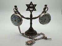 Vintage Bronze Pocket Watch Holder Stand