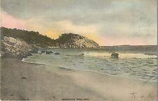 1906 Manchester's Famous Beach, Massachusetts Postcard