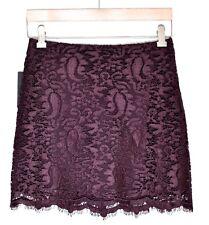 9da4aacd6 Marciano Guess Women s Maya Lace Mini Skirt (size 2) Winetasting