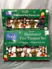 Disney Winnie Pooh 10 & 5 Indoor Christmas Tree Lights LOT Rare Eeyore 2000