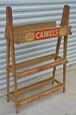 Antique Camels Cigarette Display rack Advertising 1940's General store shelf