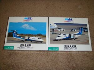 1/200 Hogan ANA/ANK/A-NET Official DHC-8-300 x 2 Complete Set